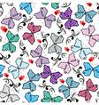 floral valentine pattern vector image vector image