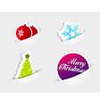 Four icons symbolizing Christmas slipped in to vector image