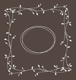 frame with floral ornament vector image