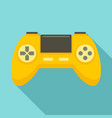game controller icon flat style vector image vector image