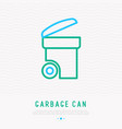 garbage can thin line icon vector image vector image