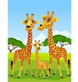 Giraffe family vector | Price: 1 Credit (USD $1)