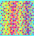 glowing flower pattern seamless vector image vector image