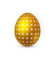 golden easter egg on white background easter egg vector image vector image