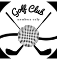 Golf club sport poster vector image