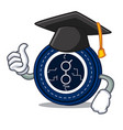 graduation golem coin character cartoon vector image vector image