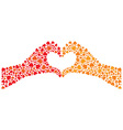 Hand Heart vector image vector image
