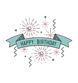 Happy birthday flat design thin line banner vector image vector image