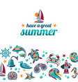 have a great summer vector image
