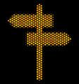 hexagon halftone road pointer icon vector image vector image