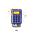 icon pos terminal or bank card reader for shopping vector image