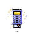 icon pos terminal or bank card reader for shopping vector image vector image