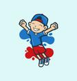 kid cartoon vector image