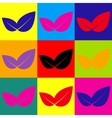 Leaf sign Pop-art style icons set vector image vector image