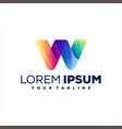 letter w gradient logo design vector image vector image