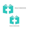 logo combination a book and christian vector image