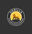 logo gorilla vintage badge vector image vector image