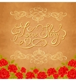 Love story hand lettering Valentines day card vector image vector image