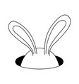 magic rabbit ears icon vector image
