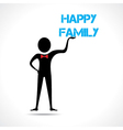 Man holding family text vector image vector image