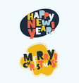 Merry christmas lettering design set