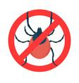 mite danger sign design element for logo label vector image