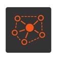 Molecule Links icon vector image vector image