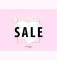 pink sale banner vector image