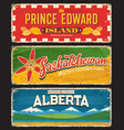 prince edward island saskatchewan alberta plates