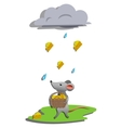 Rain for mouse vector image vector image