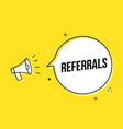 referral spread icon friend customer icon review vector image