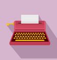 retro style typewriter icon flat style vector image vector image