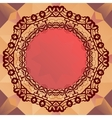 Round mandala frame for text oriental design vector image vector image