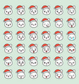 santa rabbit emotion face in various expession vector image