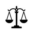 scale justice black color logo vector image