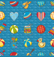 seamless pattern baby toy cartoon styleabstract vector image
