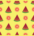 seamless pattern with orange and watermelon slices vector image vector image