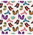 Seamless womans fashion shoes pattern vector image vector image