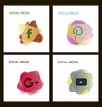 social media icons facebook icon instagram icon vector image vector image