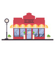 store front of kids furniture shop isolated on vector image