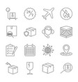 thin line icons set of shipping and delivery vector image vector image