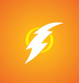 thunder bolt sign logotype vector image vector image