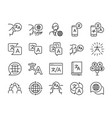 translation icon set vector image vector image