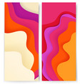 vertical banners template with abstract color vector image vector image