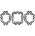 vintage baroque frame decor set collection vector image vector image