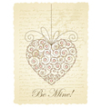 Vintage love card vector | Price: 1 Credit (USD $1)