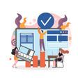 web designer services concept for web vector image