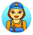 woman electrician vector image vector image