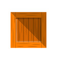 wooden delivery box icon in flat design vector image vector image