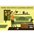 home and office cleaning service concept vector image